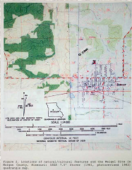 Topographical map of the Weigel Site